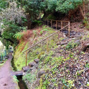 Old stairway leading up to another Levada