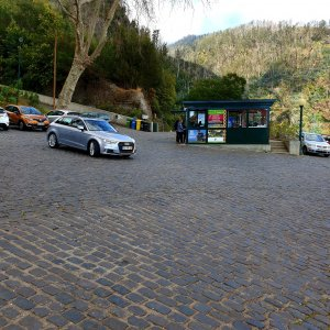 Nice square between the two cable cars of Monte