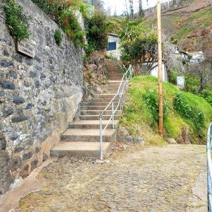 Stairs leading to the Levada dos Tornos