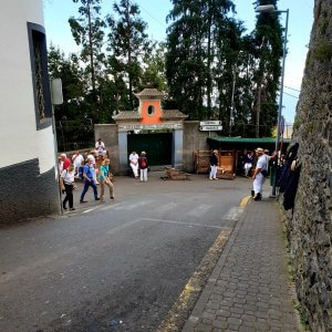 """Another nice view to the sledge riders of Monte right next to the church """"Nossa Senhora de Monte"""""""
