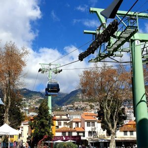 Getting to Monte with the cable car from Funchal
