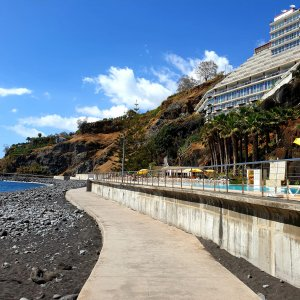 Famous Hotel on the right side of the walk to Camara de Lobos