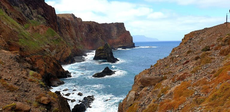 The romantic cliffs of the Peninsula Sao Lourenco in Madeira