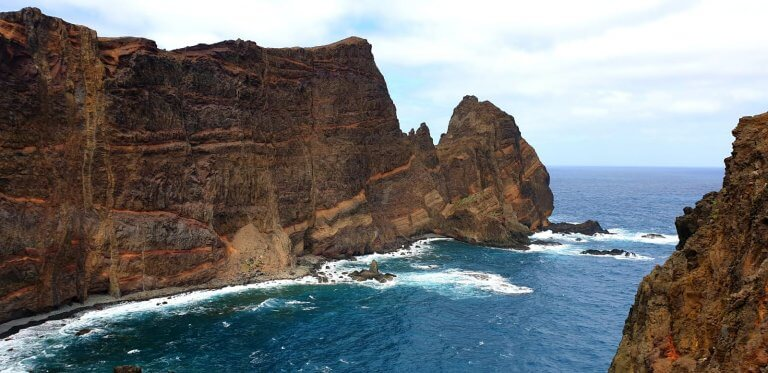 The vertical cliffs of Maideras most eastern point