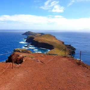 Fantstic view to the eastern part of Madeira in Peninsula Sao Lourceno