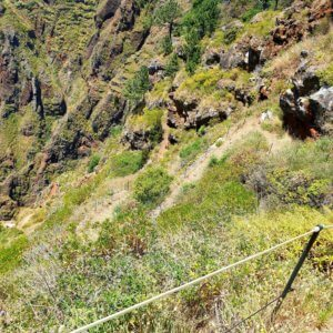 Luckely the steep path of Maloeira has protections