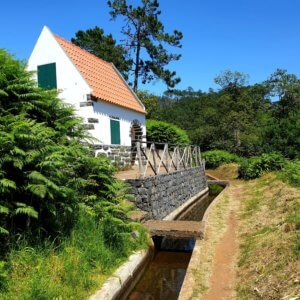 Fantastic water house right next to the levada nova.
