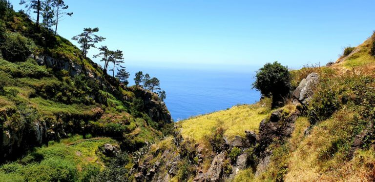 Fantistic landscape in the south of Madeira close to Paul do Mar.