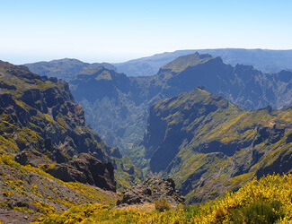 Wonderful Shot of the Mountains in Madeira Island